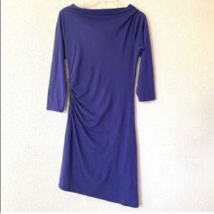 Patagonia Dresses - Patagonia Purple Asymmetrical 3/4 Sleeve Dress